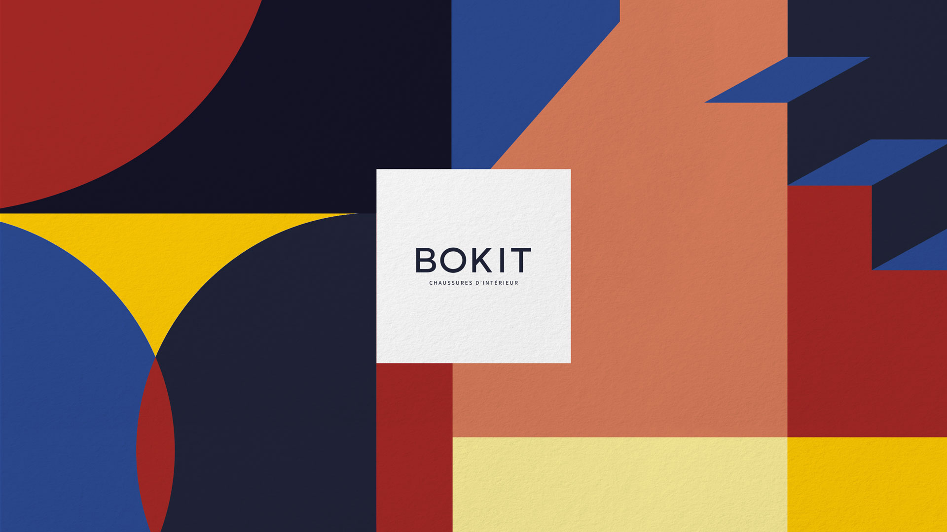 A new geometric and colorful branding for interior shoes brand Bokit
