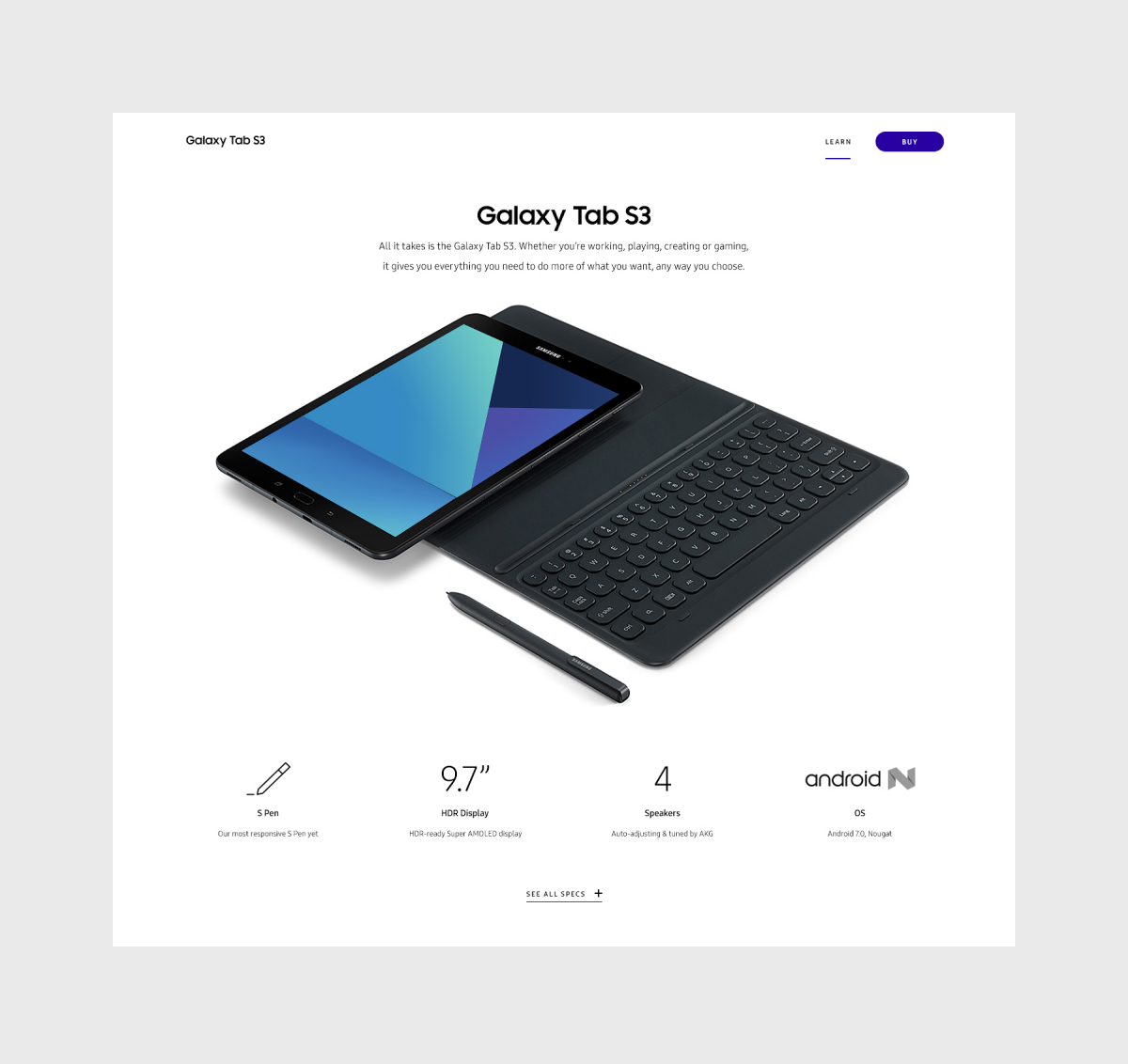 Page Header for Tab S3