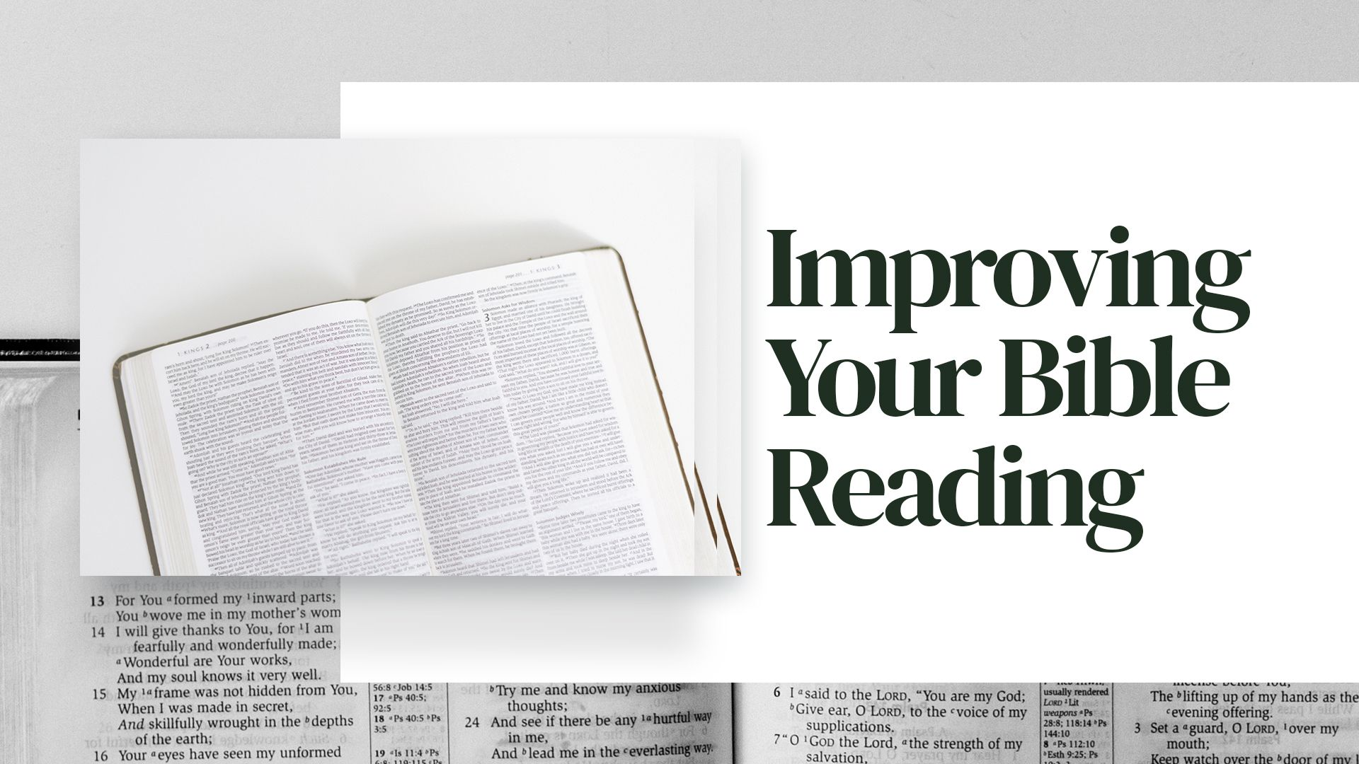 How to Improve Your Bible Reading Hero Image