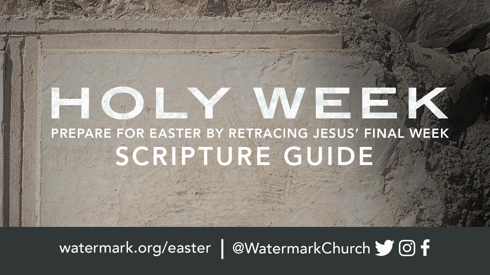 Scripture Guide to Holy Week Hero Image