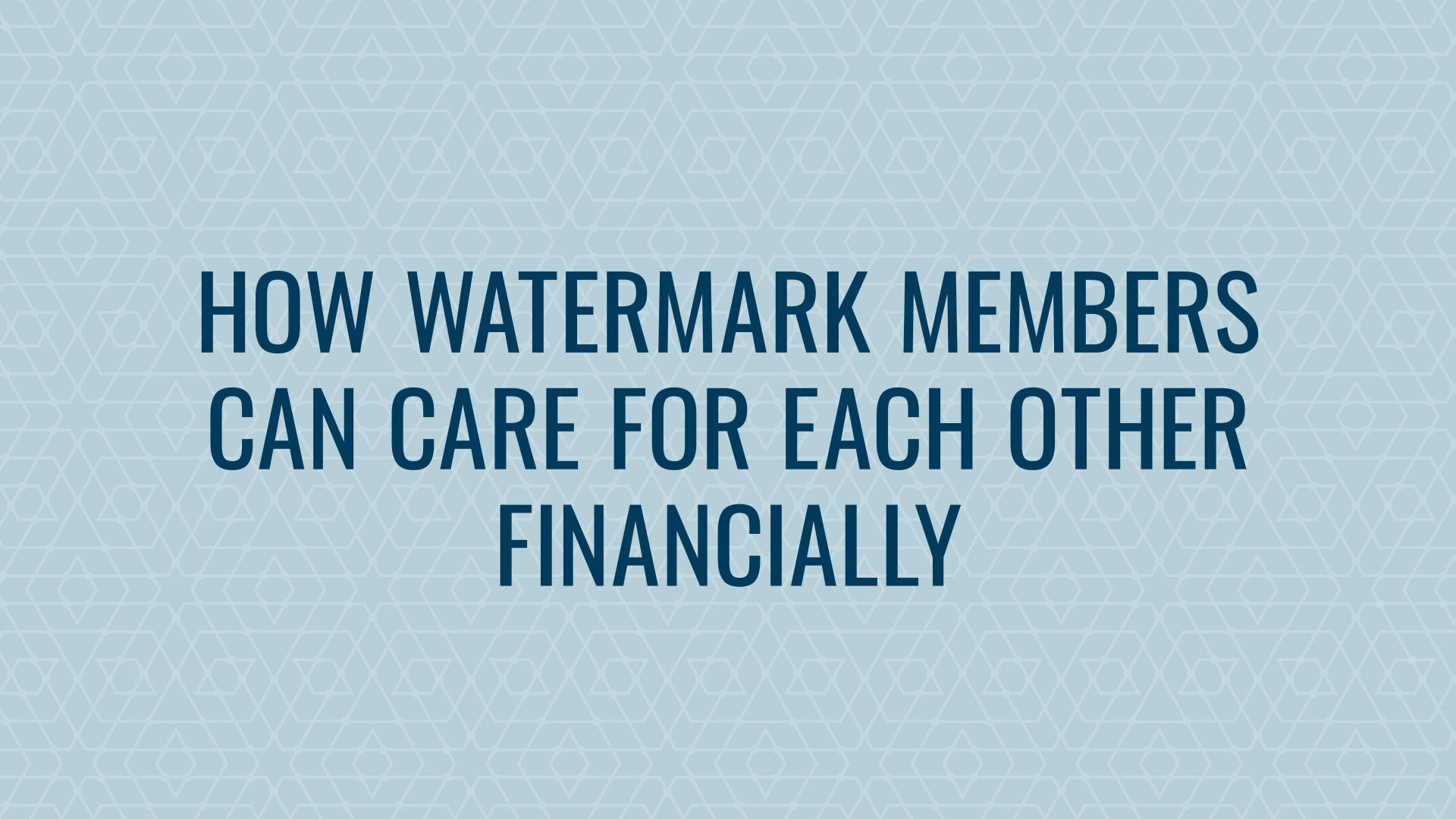 Watermark Members in Financial Need Hero Image