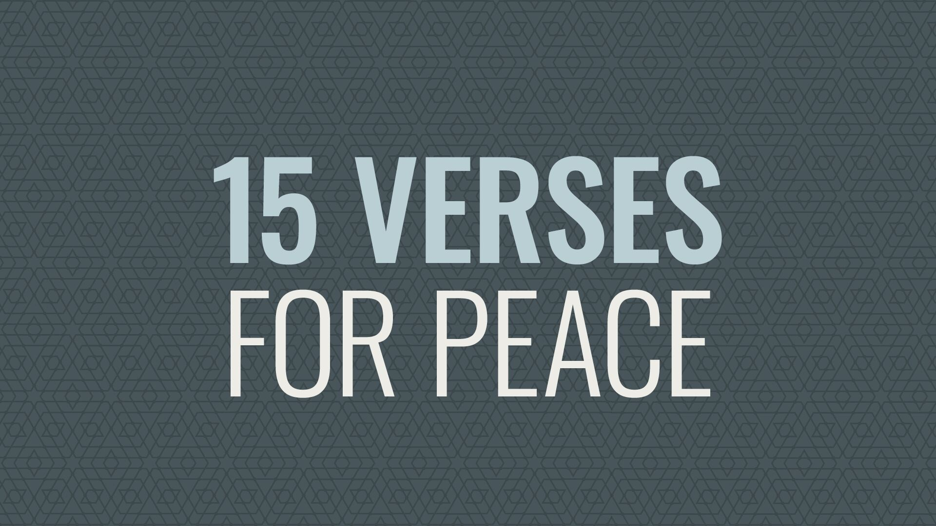 Longing for Inner Peace: 15 Verses to Help Hero Image