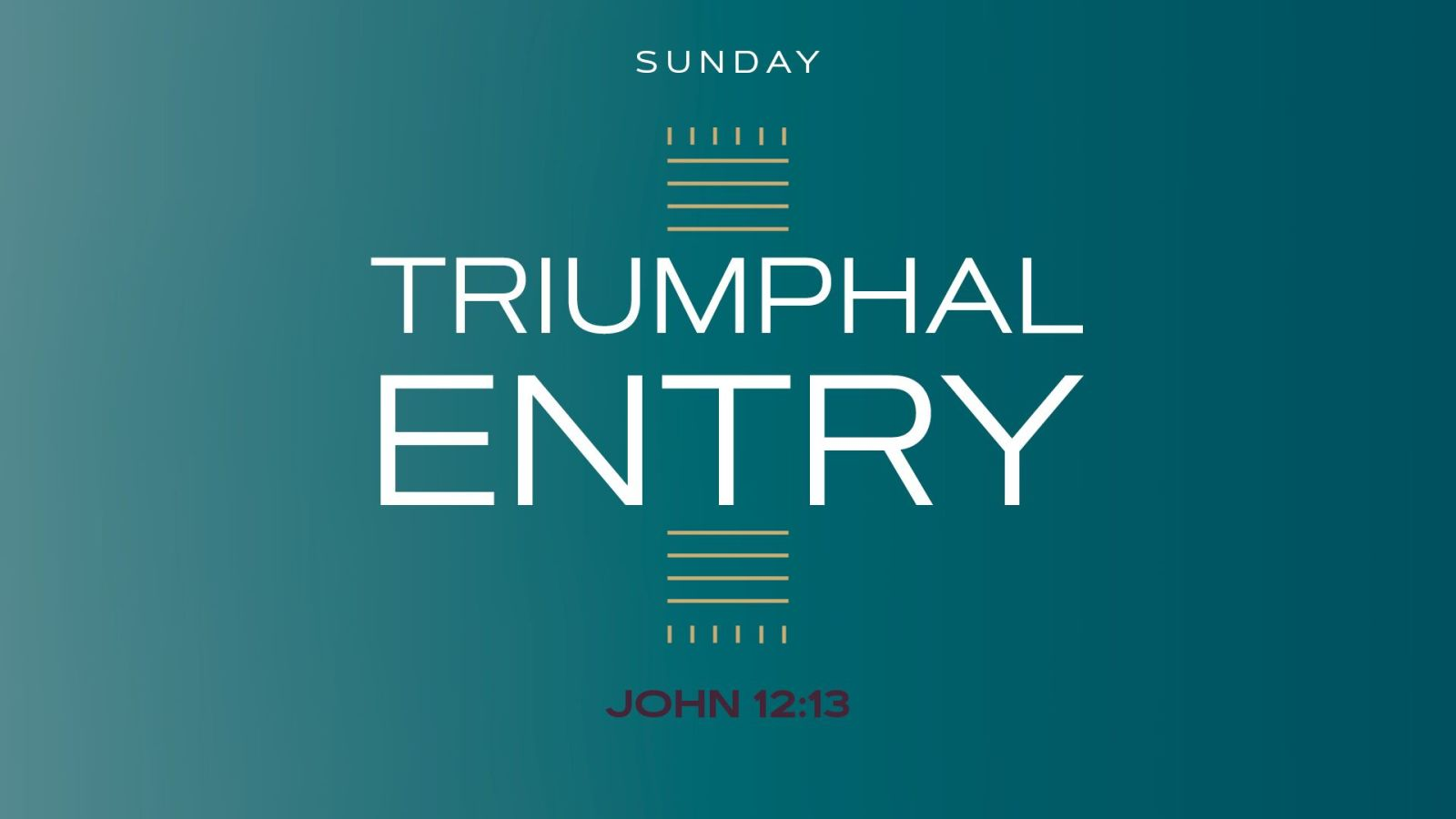 The Triumphal Entry and Palm Sunday Hero Image