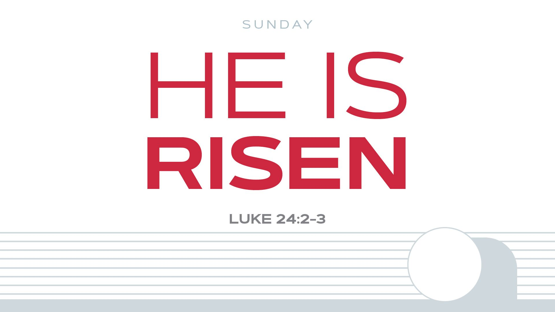 He Is Risen Hero Image