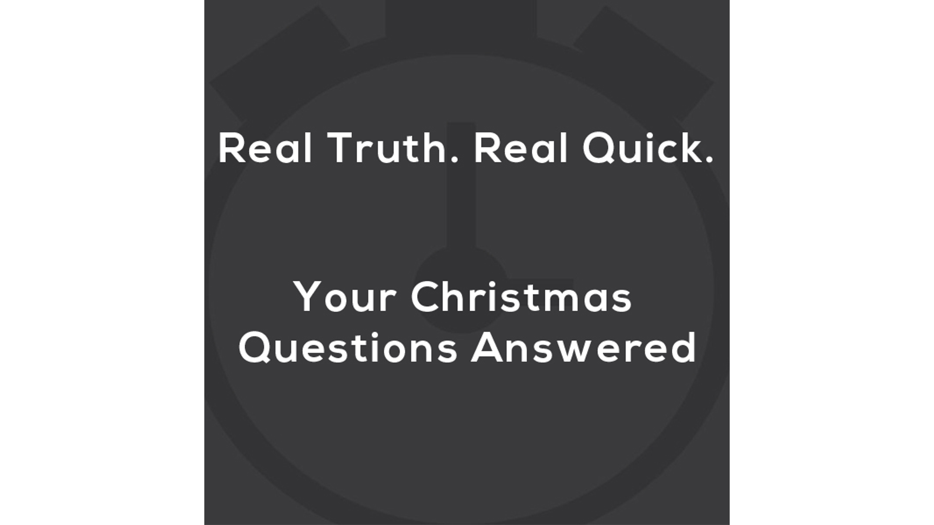 Your Most Popular Christmas Questions Answered. Hero Image