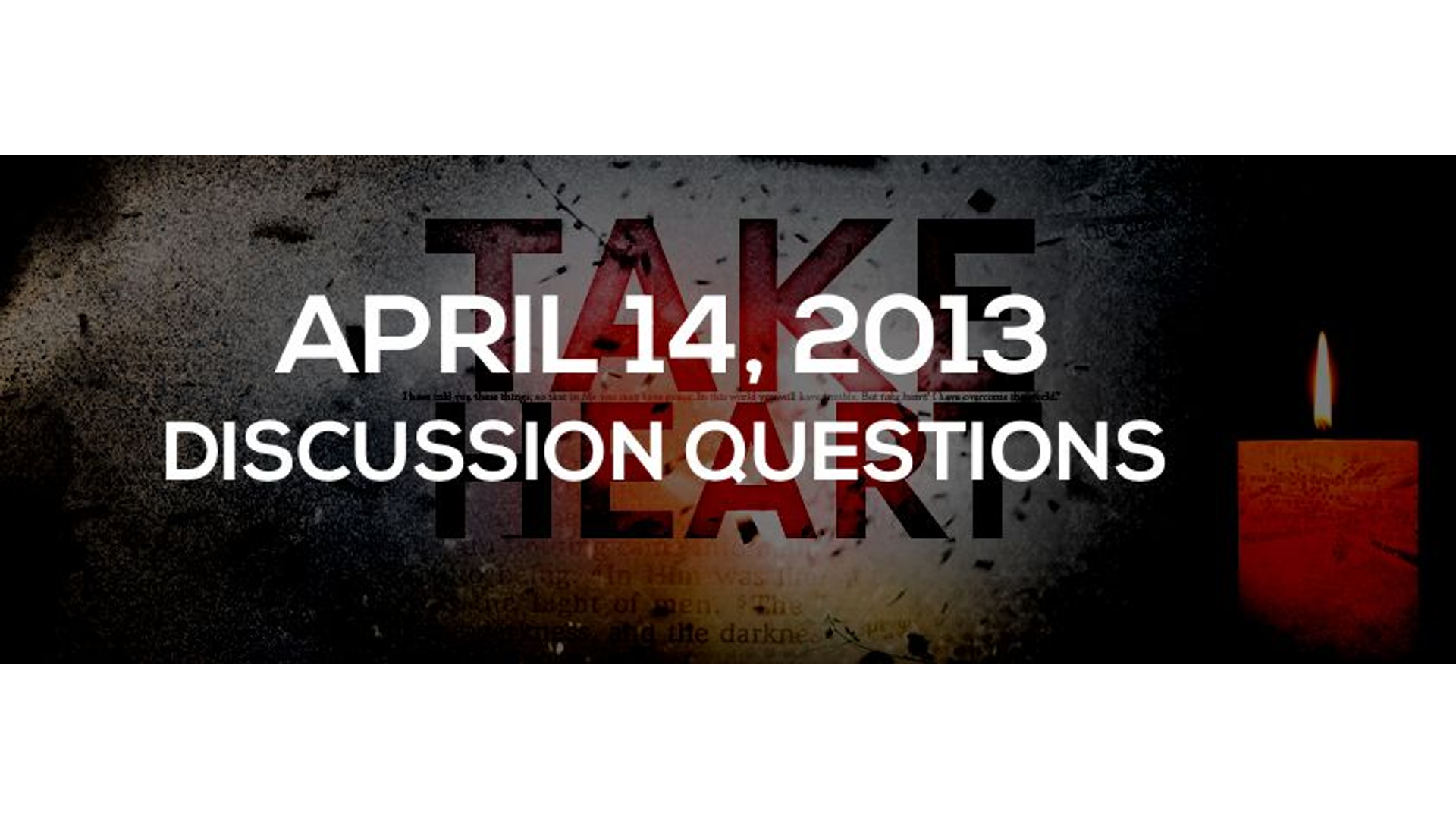 Discussion Questions: April 14, 2013 Hero Image