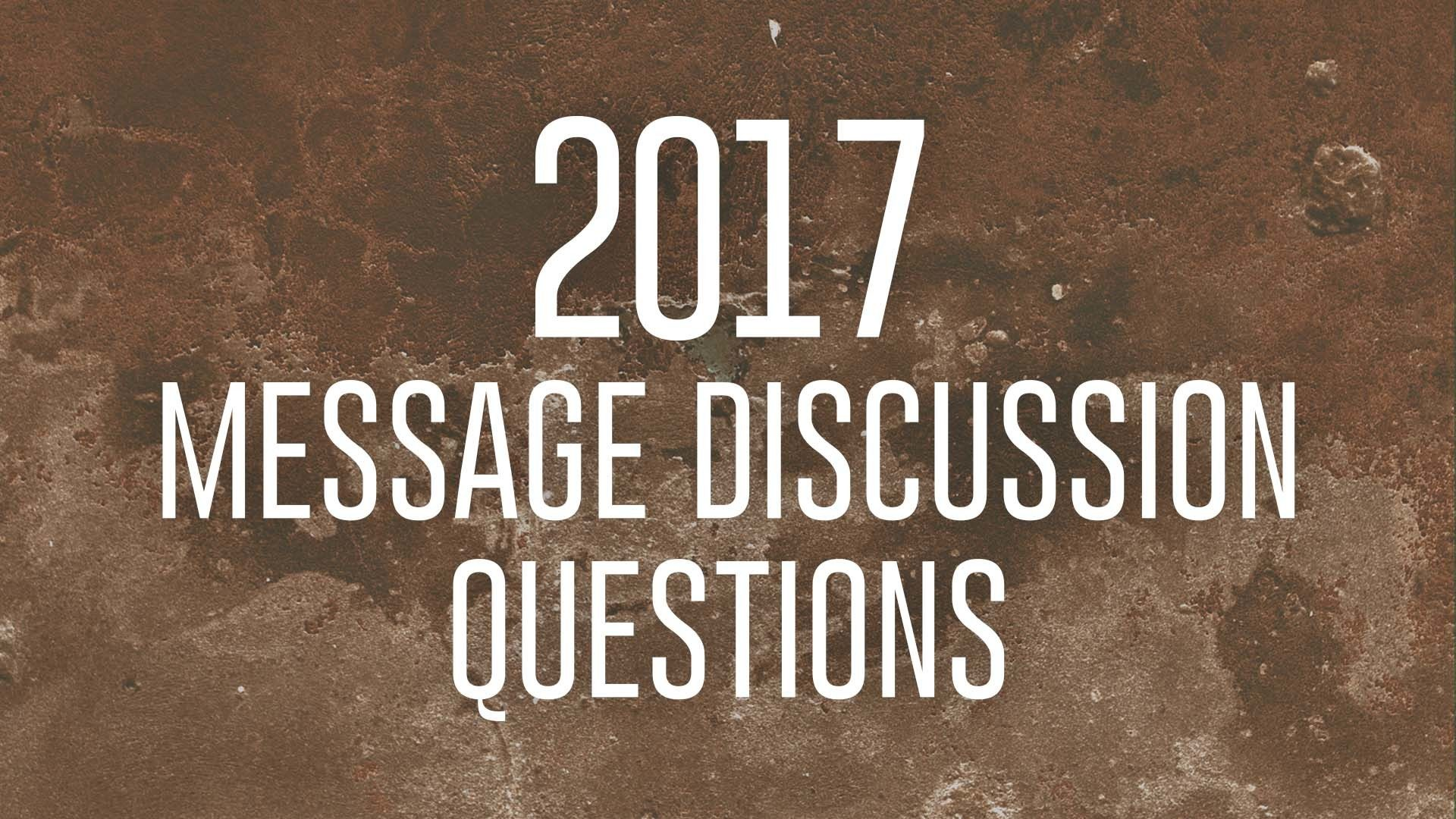 Discussion Questions January 29, 2017 Hero Image