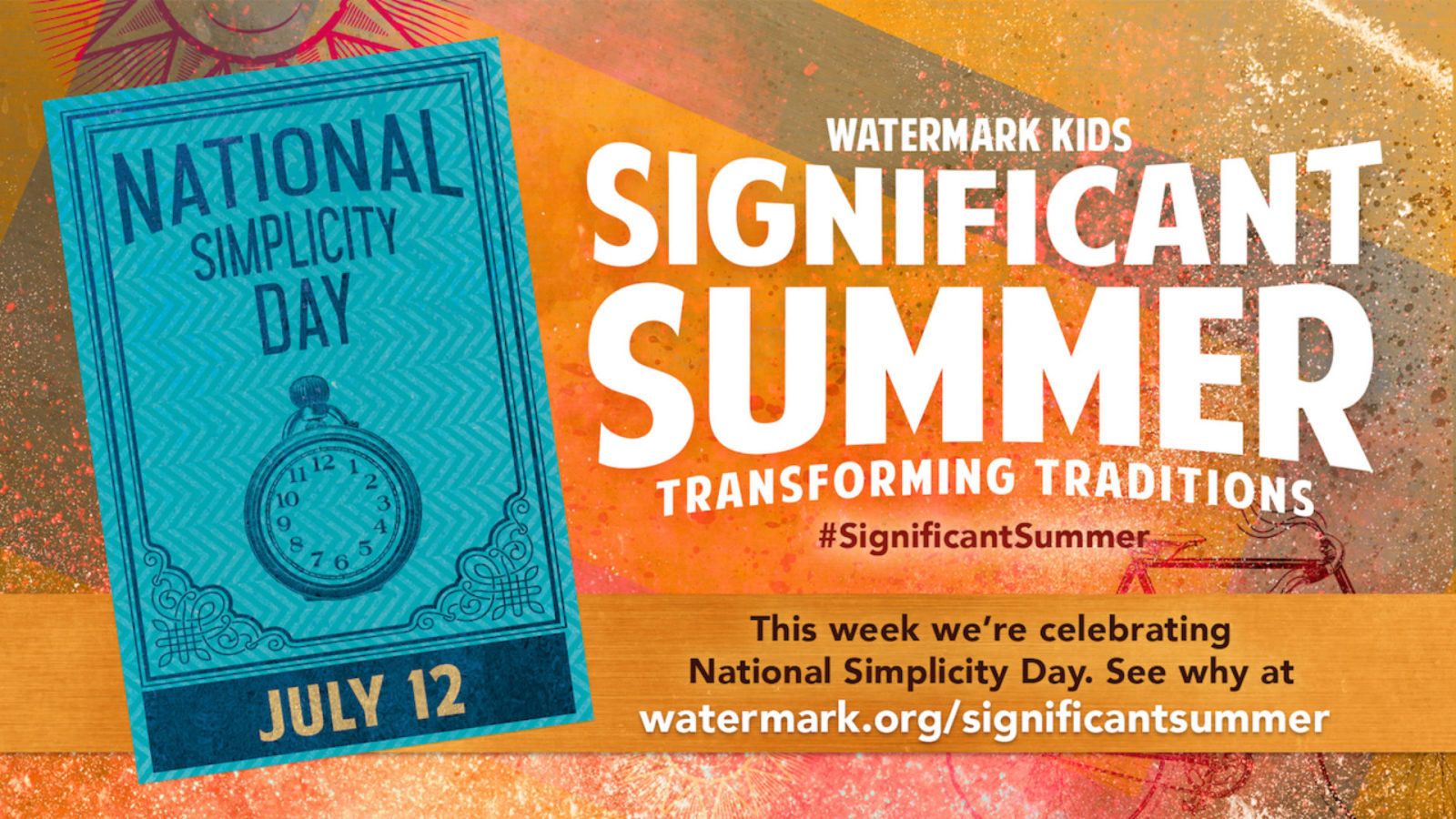 Significant Summer Week 6: National Simplicity Day Hero Image