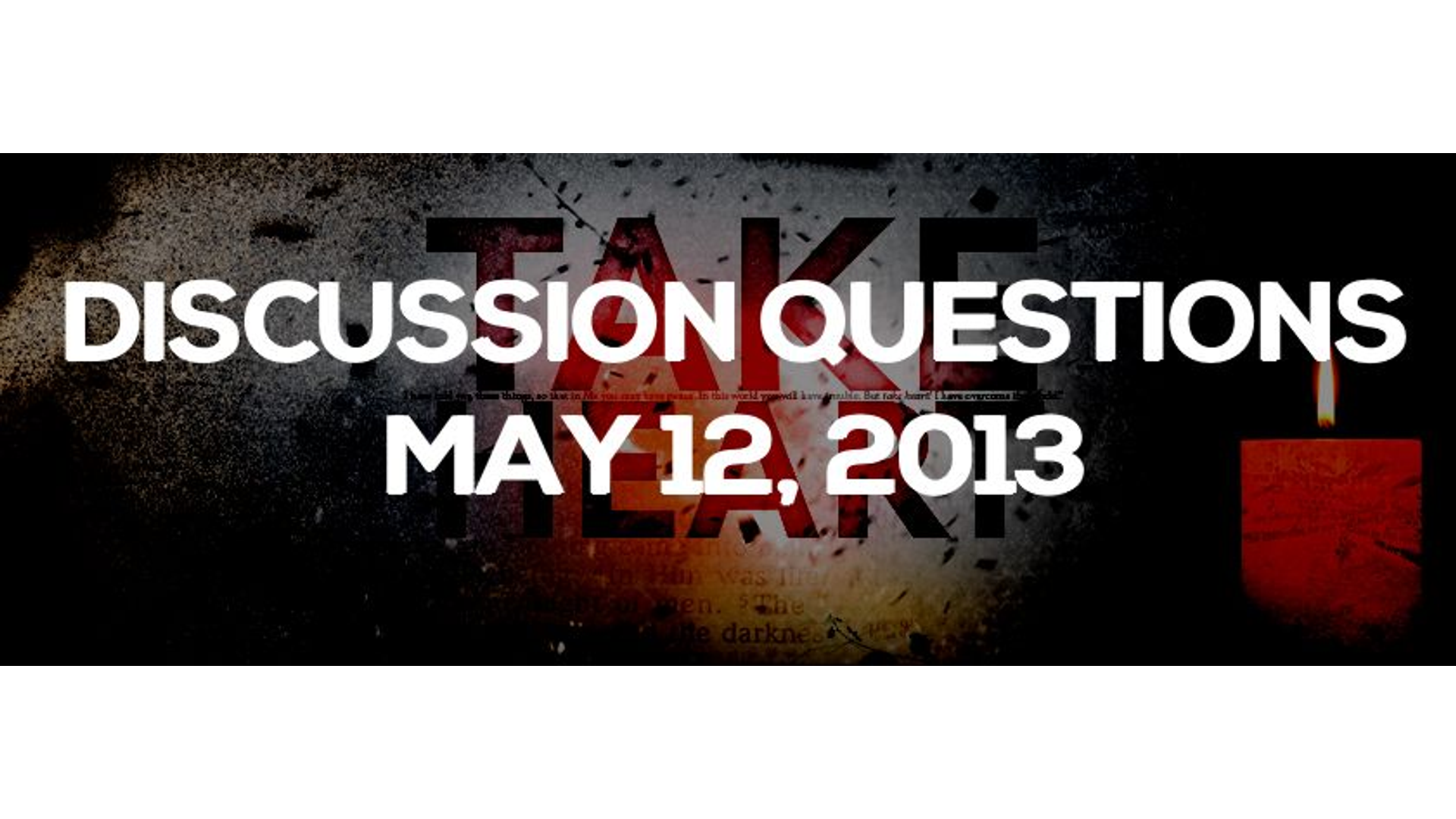 Discussion Questions: May 12, 2013 Hero Image