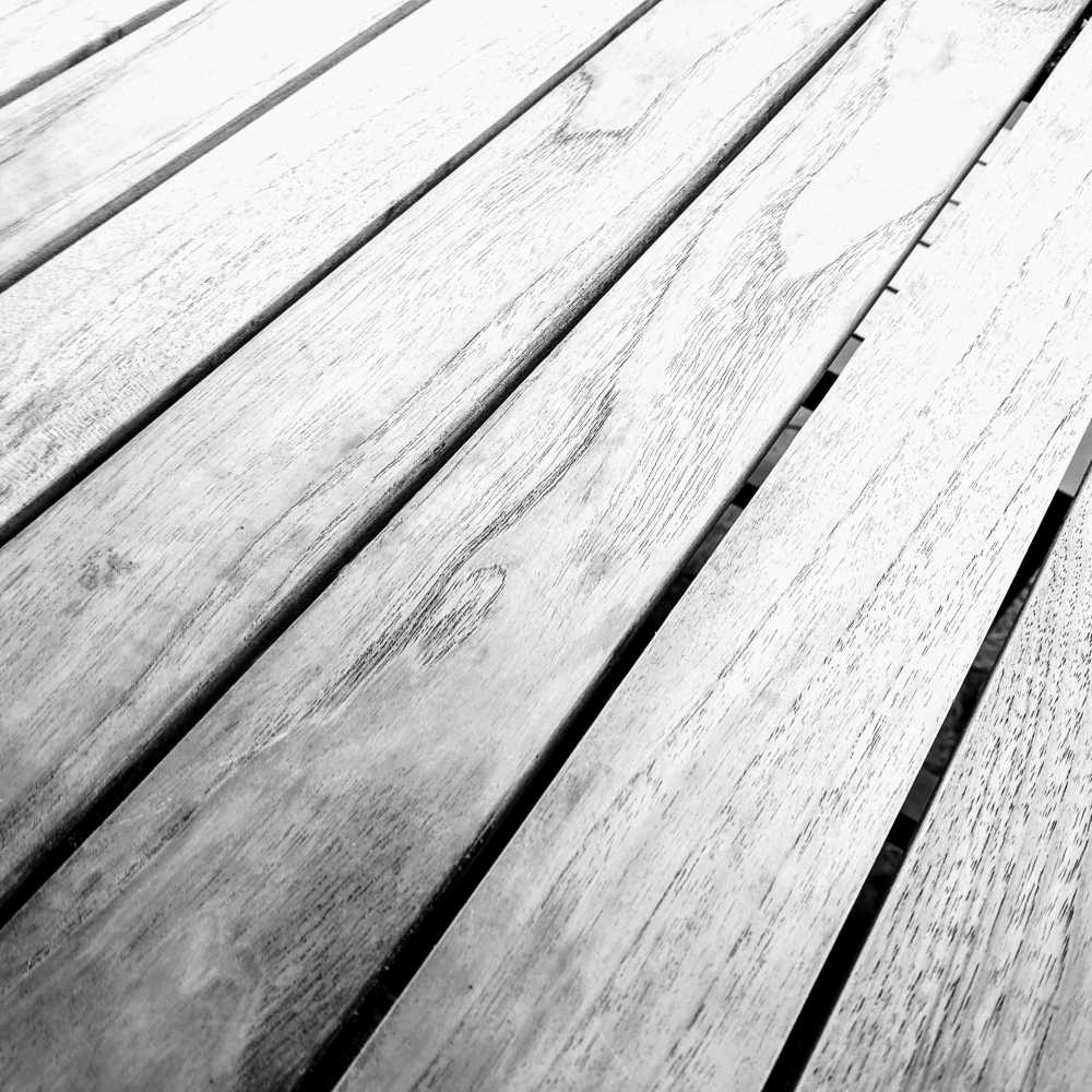 Wooden table top in Black and White.