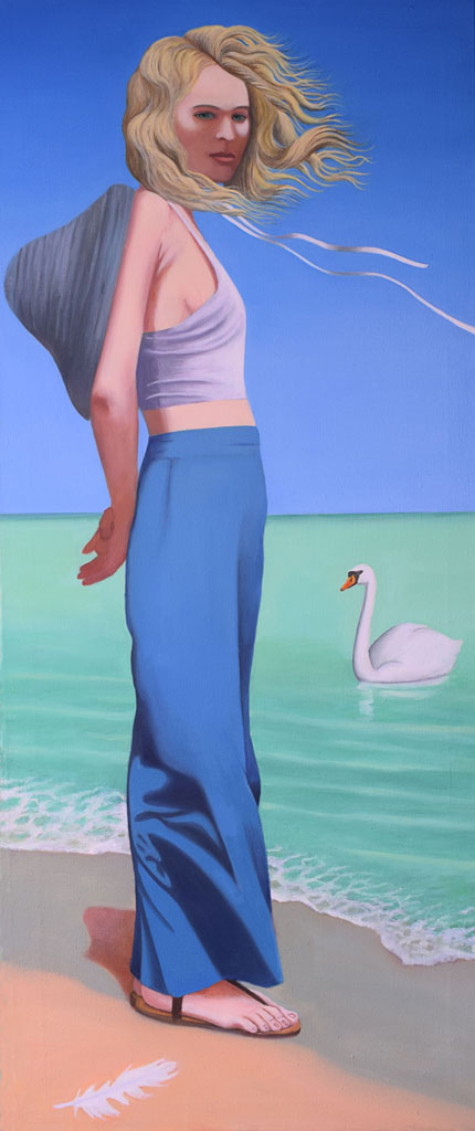 Woman with a swan