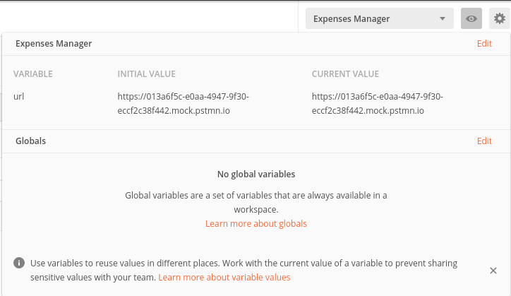 Select Expenses Manager Environment