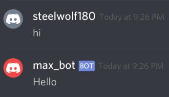hello response