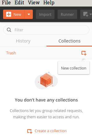 Create a new Postman Collection