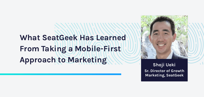 Shoji Ueki Sr. Director of Growth Marketing at Seatgeek