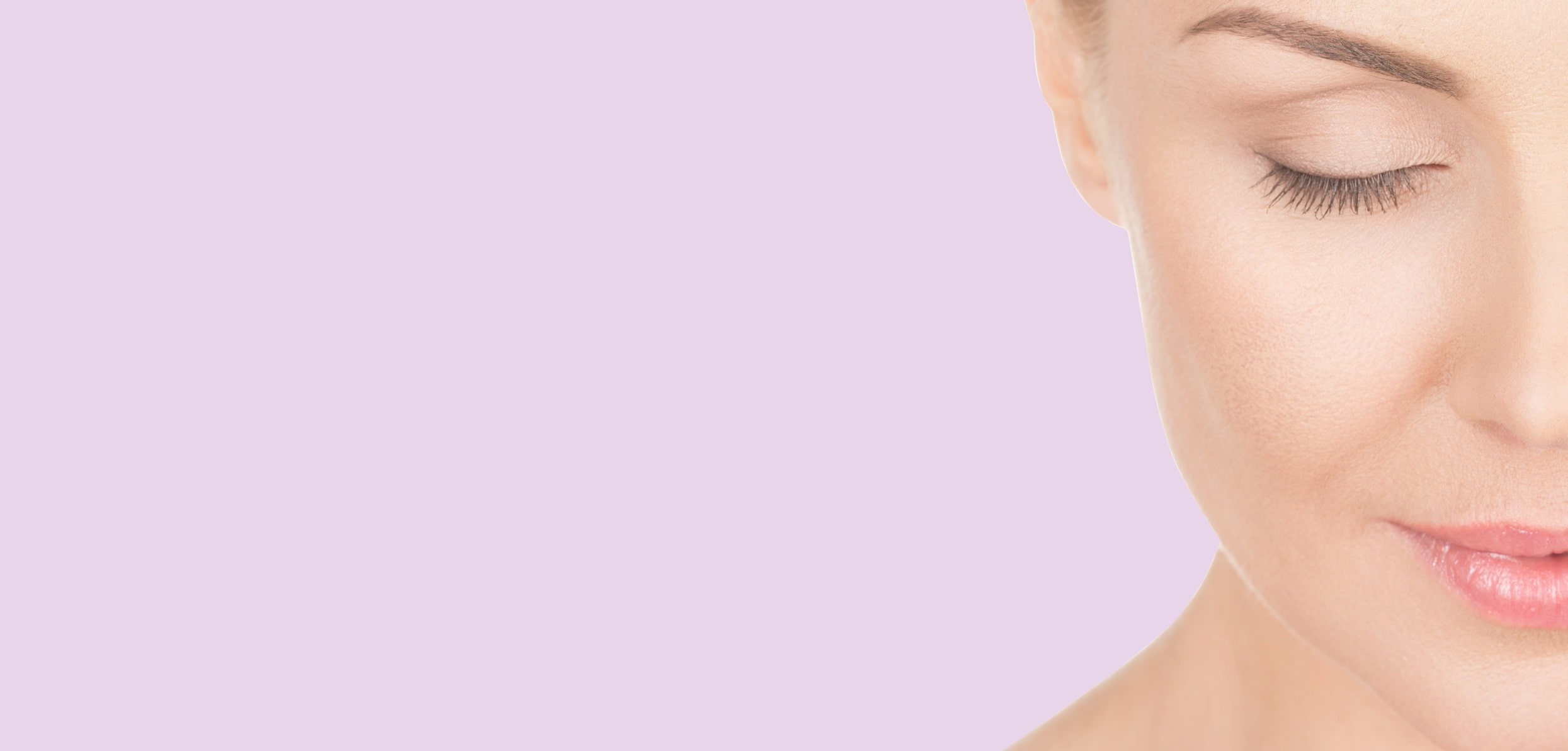 Closeup of a woman half face - boost collagen production