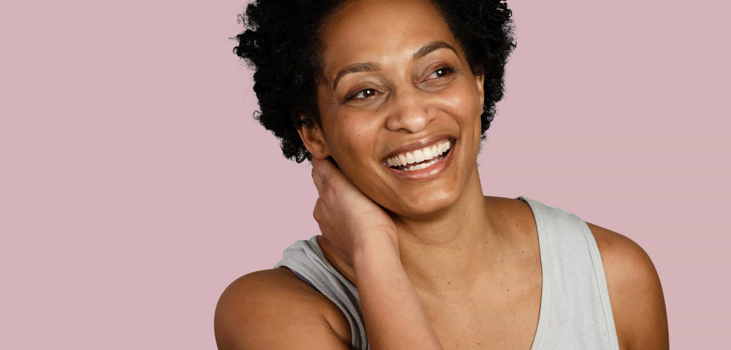 Happy black woman - natural ways to lose weight