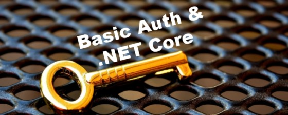 Adding Basic Auth to your MVC application in  NET Core