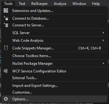 Disabling built-in chrome in Visual Studio 2017 / 2019 from starting
