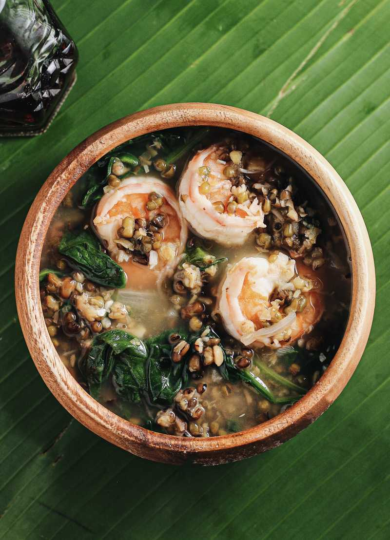 Ginisang Monggo with Shrimp