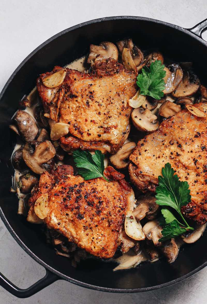 Garlic and Thyme Skillet Chicken