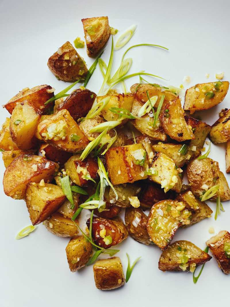 Roasted Potatoes with Ginger-Scallion Oil