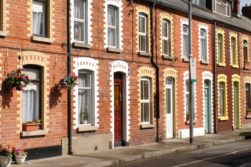 Redbrick terraced houses