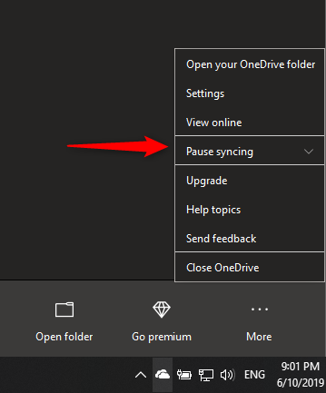 Pause syncing option