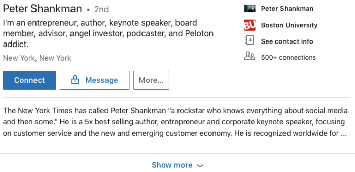suspenseful LinkedIn summary