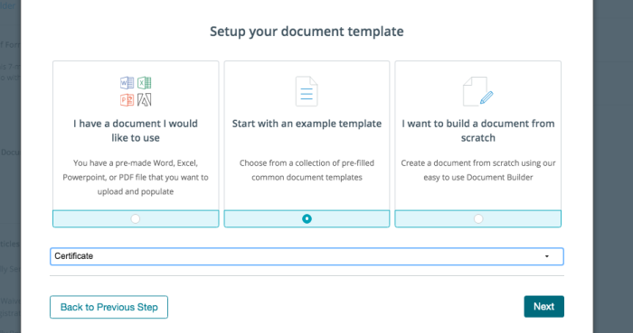 Setting up your document template in Formstack.