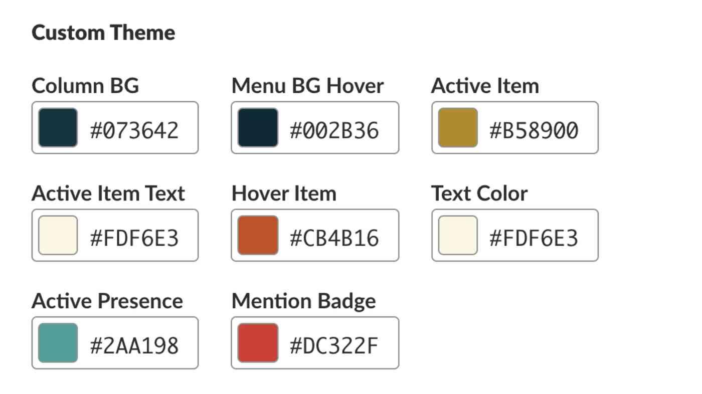 Slack custom-themes