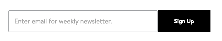 sample email sign-up CTA from Walmart