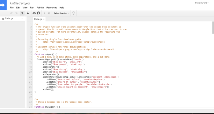 Dig in with Apps Script