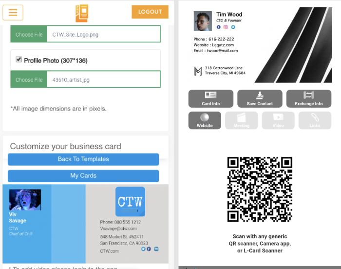 L-Card Pro screenshot