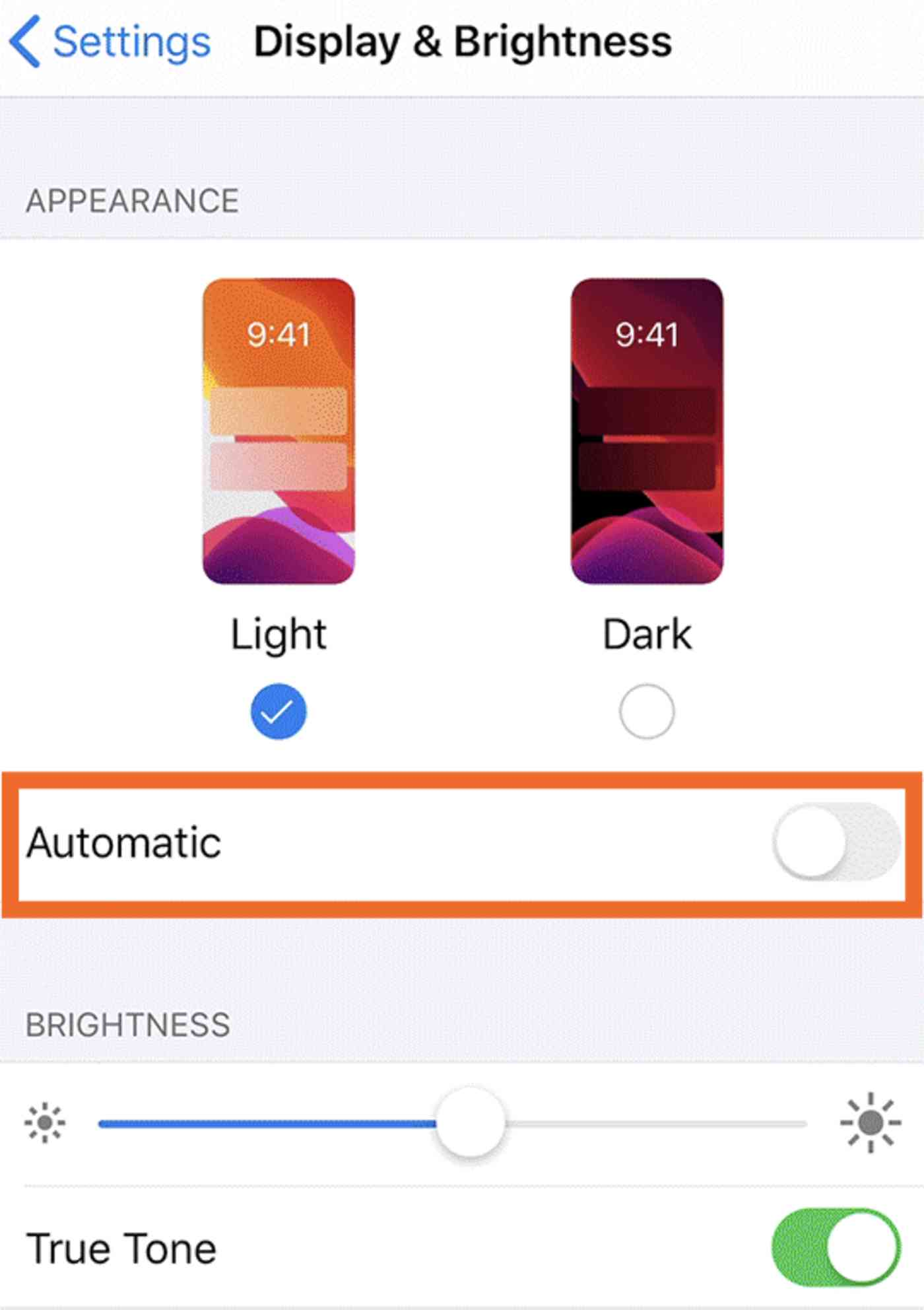 Automatically switch to dark mode at night on your iPhone