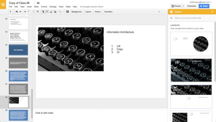 Explore in Google Slides