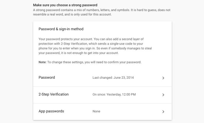 App Password in Google