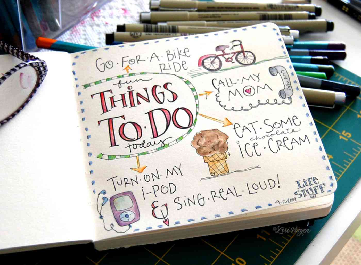 doodled to-do list