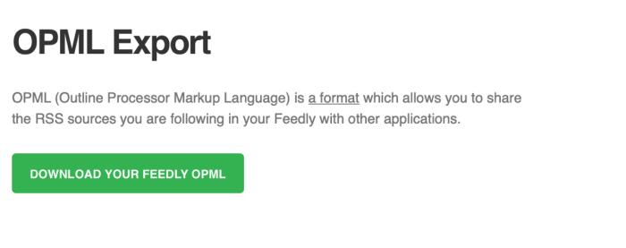 Descarga el botón Feedly OPML