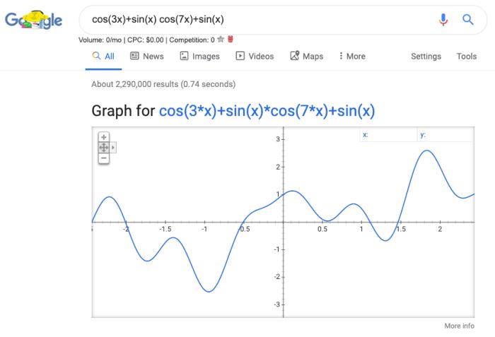 Google calculus calculator