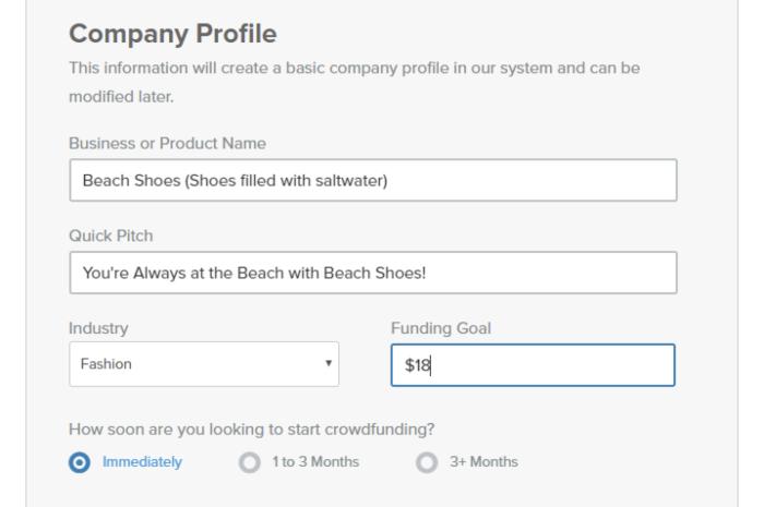 Setting up a Fundable profile