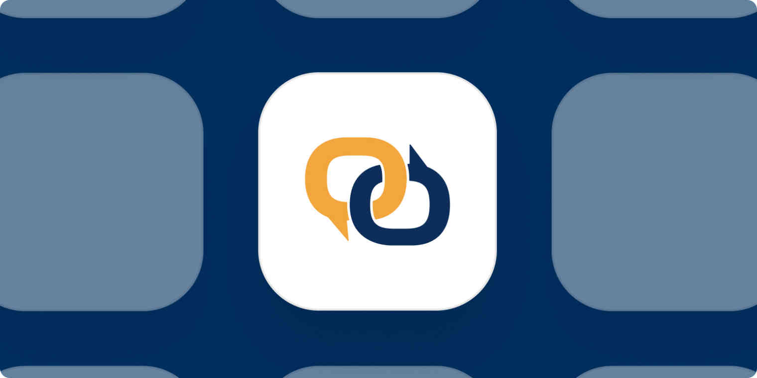 EZ Texting app logo on a blue background.