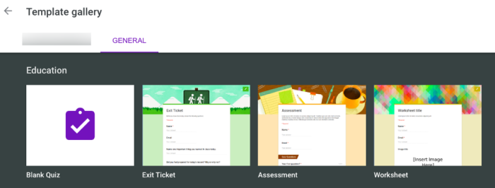 create a quiz using Google Forms