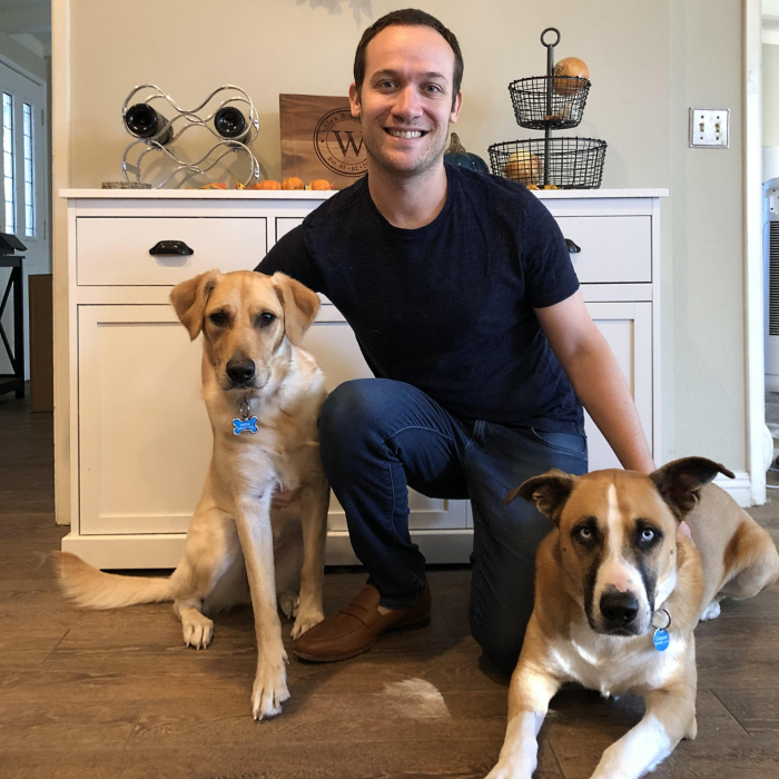 Alex and his dogs