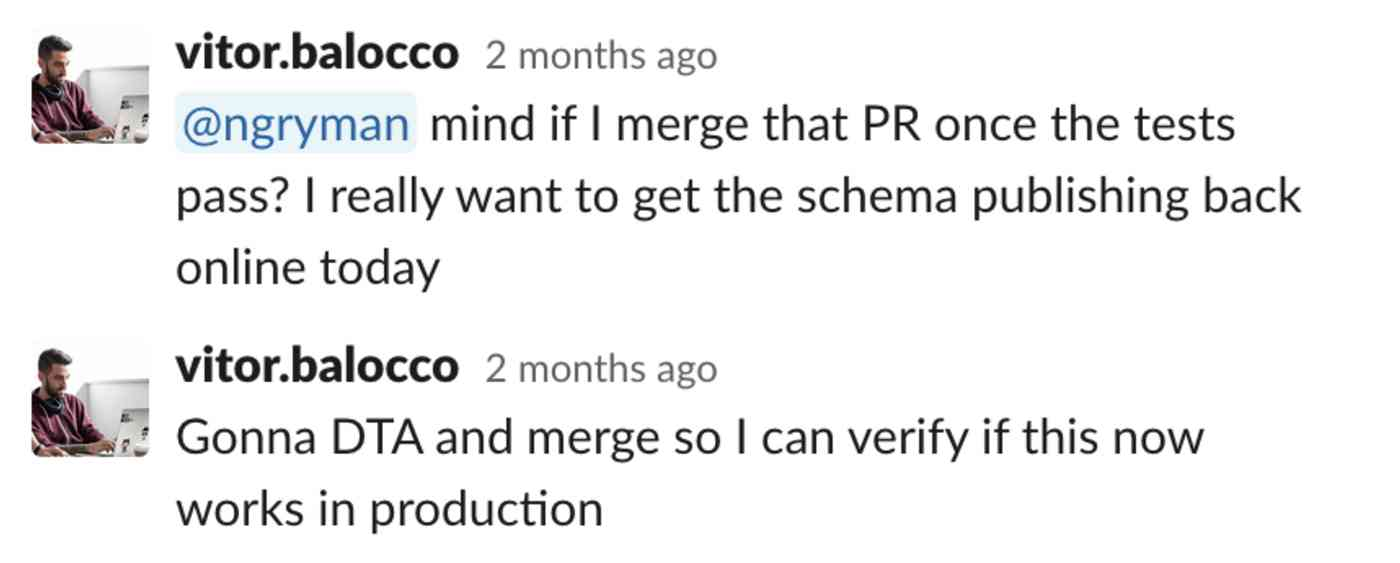 @ngryman mind if I merge that PR once the tests pass? I really want to get the schema publishing back online today. Gonna DTA and merge so I can verify if this now works in production