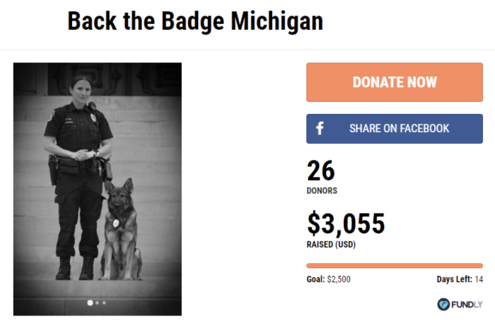 Back the Badge Michigan on Fundly
