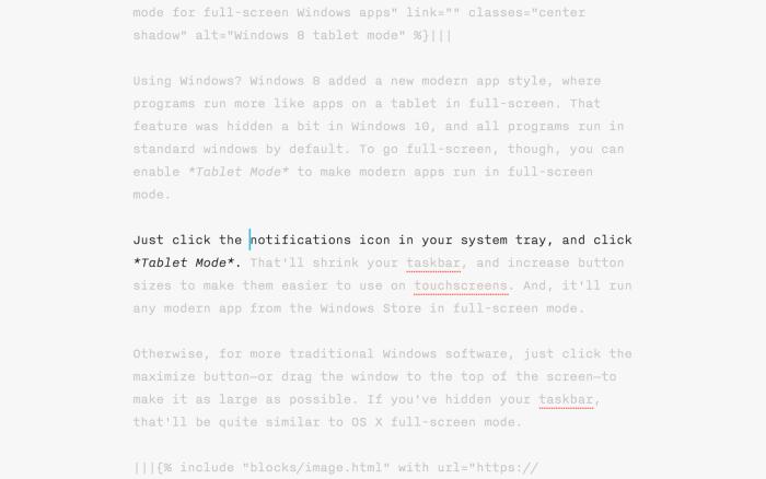 iA Writer Focus Mode