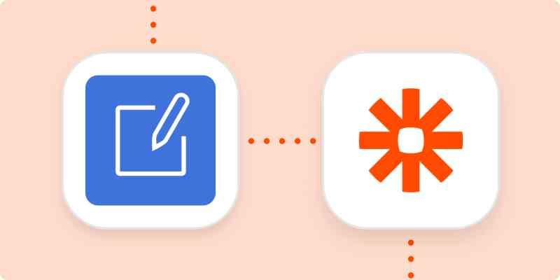 SignRequest and Zapier logos on an orange background