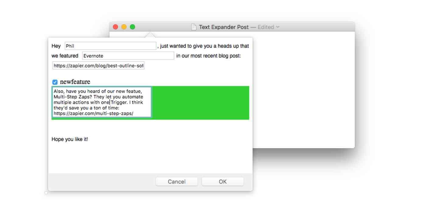 optional fields