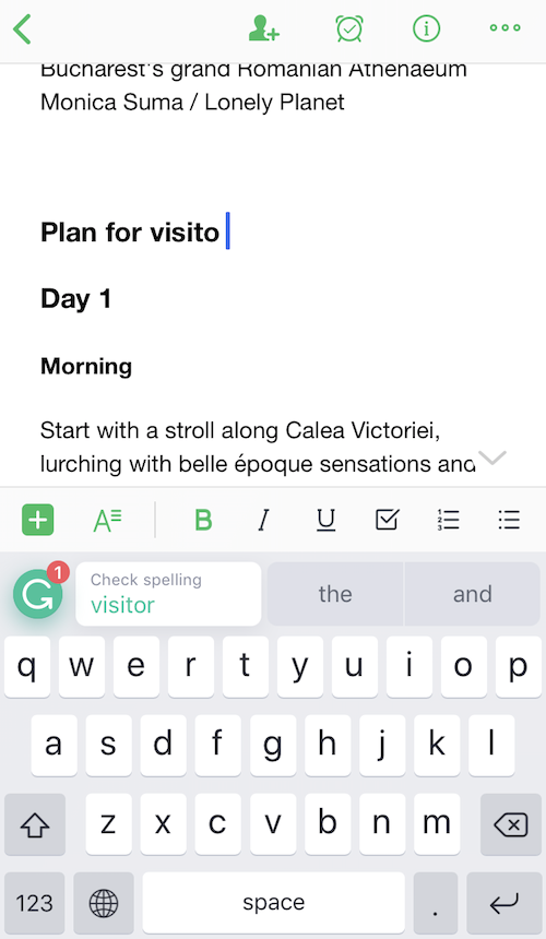 Grammarly for iPhone
